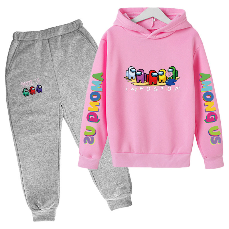 4-14 Y Girls Clothing Among Us Sets Autumn Winter Boys Girls Clothes Printing Outfit Kids Print Tracksuit For Boys Children Set 6