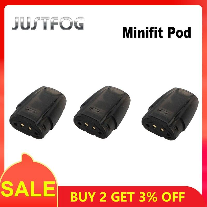 3pcs/lot JUSTFOG MINIFIT Vape Pod Cartridge 1.5ml Tank 1.6ohm Electronic Cigarette Atomizer For MINIFIT Kit VS JUSTFOG Q16 Kit