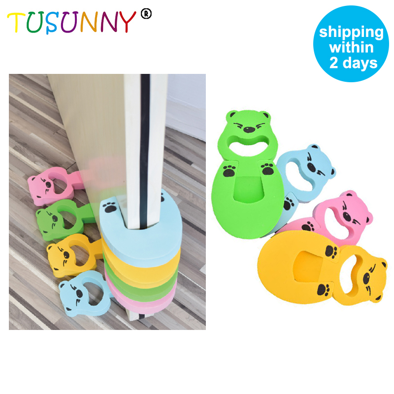 TUSUNNY 1pc  Baby Protection Stopper Holder Lock Safety Guard Finger Protect Child Kids Baby Cartoon Jammers Stop Door