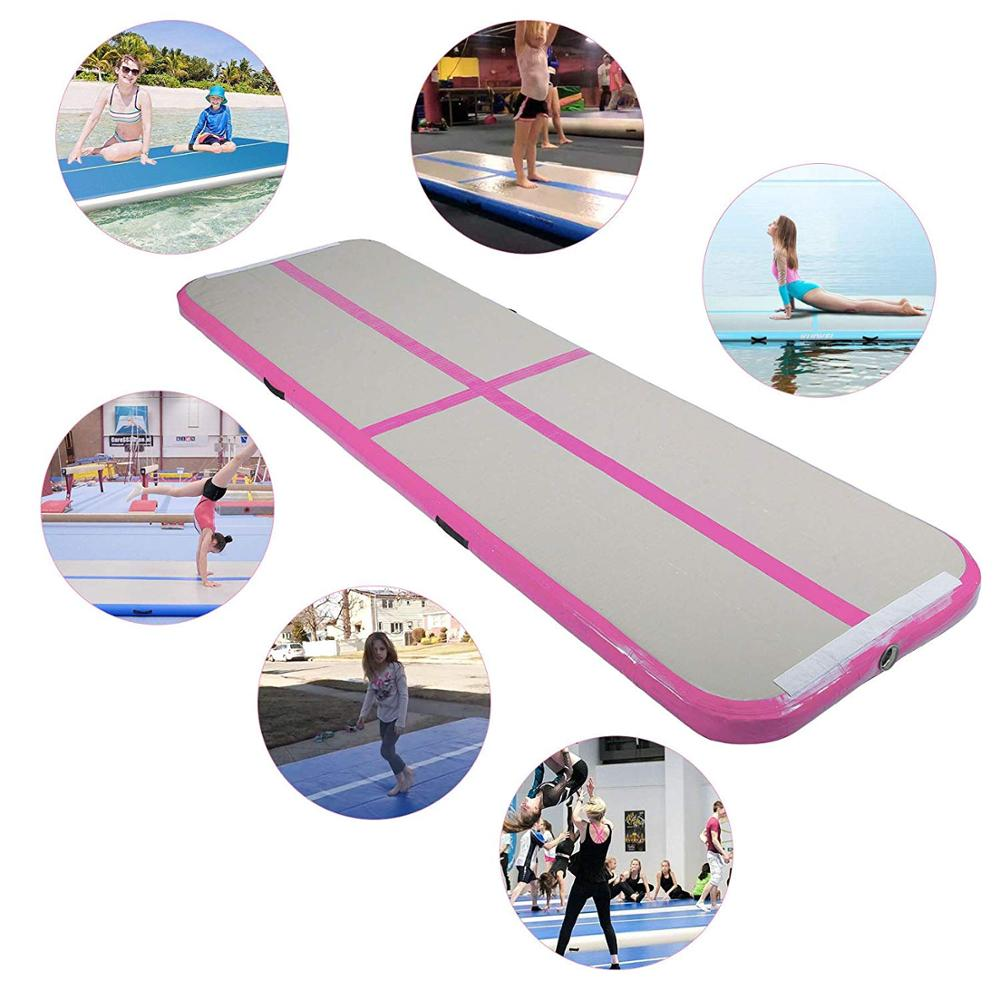 3M 4M 5M Inflatable Gymnastics Air Track Tumbling Mat Airtrack Mats for Home Use/Training/Cheerleading/Yoga/Water with Pump