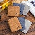 Новый мужской кожаный двойной кошелек, тонкий хипстерский бумажник из воловьей кожи для кредитных карт/удостоверений личности и вставок, р...