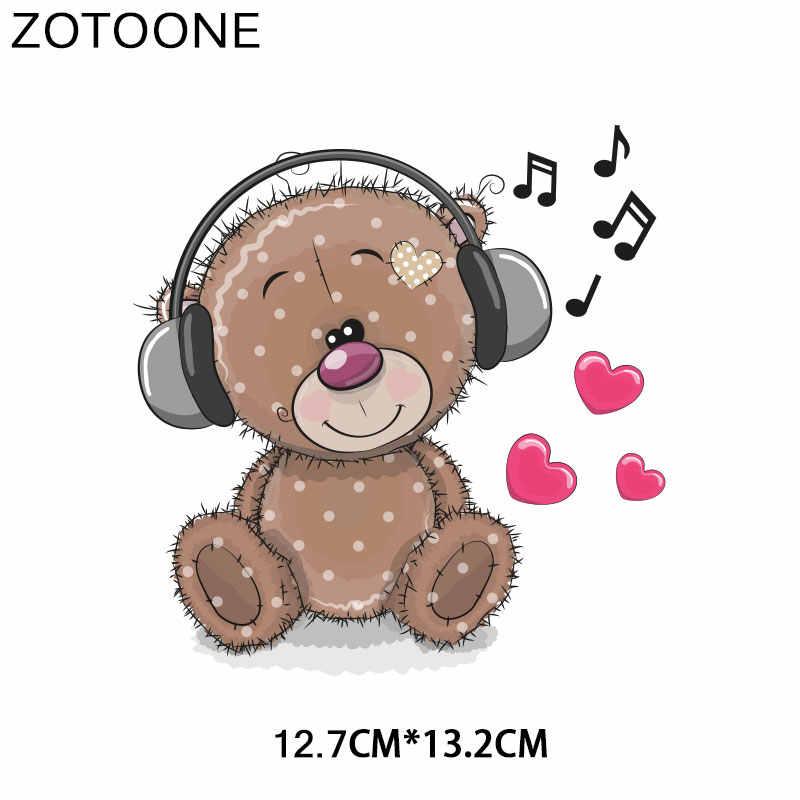 ZOTOONE かわいい動物猿クマアイアンでパッチ服 Tシャツ転送アプリケーション DIY 熱転送アップリケステッカー E