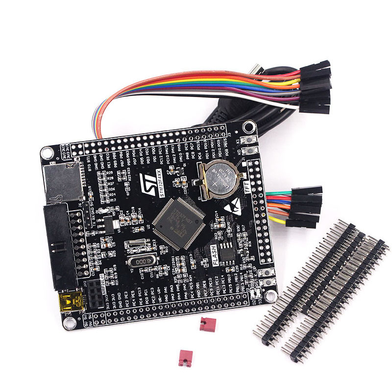 Free Shipping STM32F4 Board STM32F407VET6 STM32 Cortex M4 Development Board DIY Pin Header