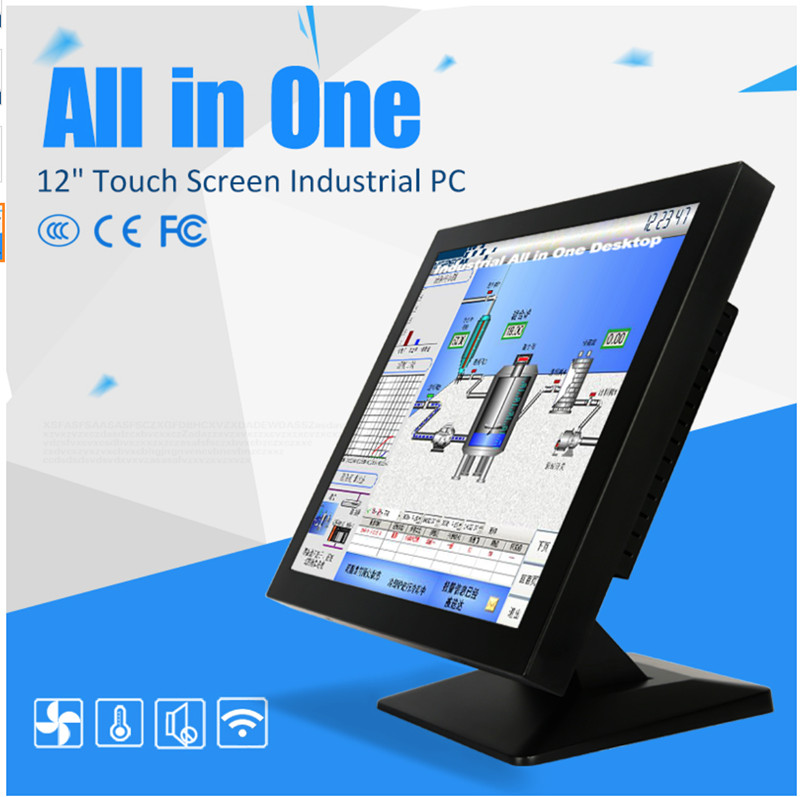 12 Inch J1900 Fanless X86 Single Board Computer Touchscreen Mini Industrial Pc With Explosion Proof Monitor