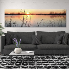 wall picture art prints Sunset landscape Poster Paintings for Living Room No Frame canvas painting