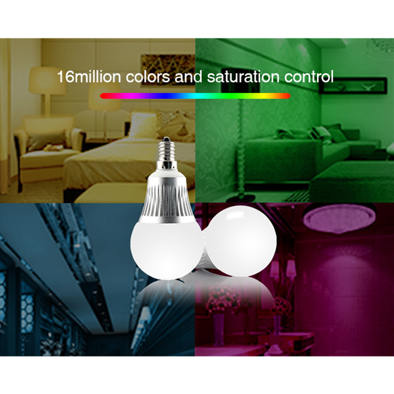 Miboxer FUT013 AC85 ~ 230V E14 5W RGB + CCT 2.4G WiFi remote control LED bulb dimmable led light