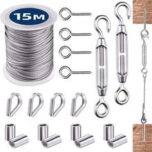 1 Набор, веревка для веревки из нержавеющей стали