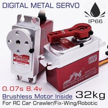 JX HV7032MG 32kg 0.07s 8.4v wysokiego napięcia prędkości wodoodporny Metal Gear przypadku standardowe cyfrowe bezszczotkowy serwo robota RC samochód Fix-skrzydła