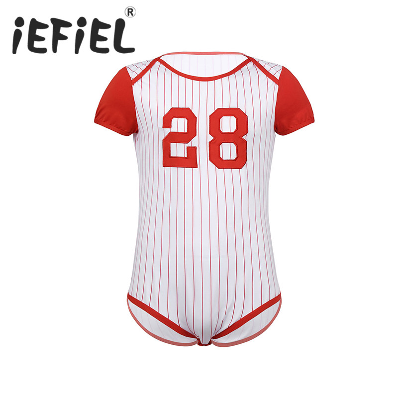 Baseball Softball Lace Printed Newborn Infant Baby Boy Girl One-Piece Suit Long Sleeve Romper Navy