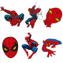 1Pcs Spiderman Sticker Marvel Avenger di Patch Carino Hero Ferro Sul Calore Sensibile Fai da Te Stampa Boy Tshirt Trasferimento Termico Applique regalo(China)