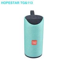 Hopestar tg113 10w coluna portátil ao ar livre sem fio bluetooth alto-falante rádio fm música estéreo subwoofer dropshipping