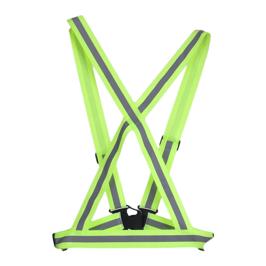 Adjustable Safety Security High Visibility Reflective Vest Gear Elastic Stripes Jacket for Night Running Cycling Wholesale LESHP