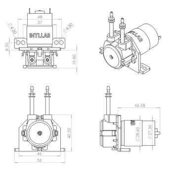 12V DC perystaltyczna pompa cieczy dozująca pompa do akwarium laboratorium analityczne tanie i dobre opinie Pompa zębata Benzyna Elektryczne