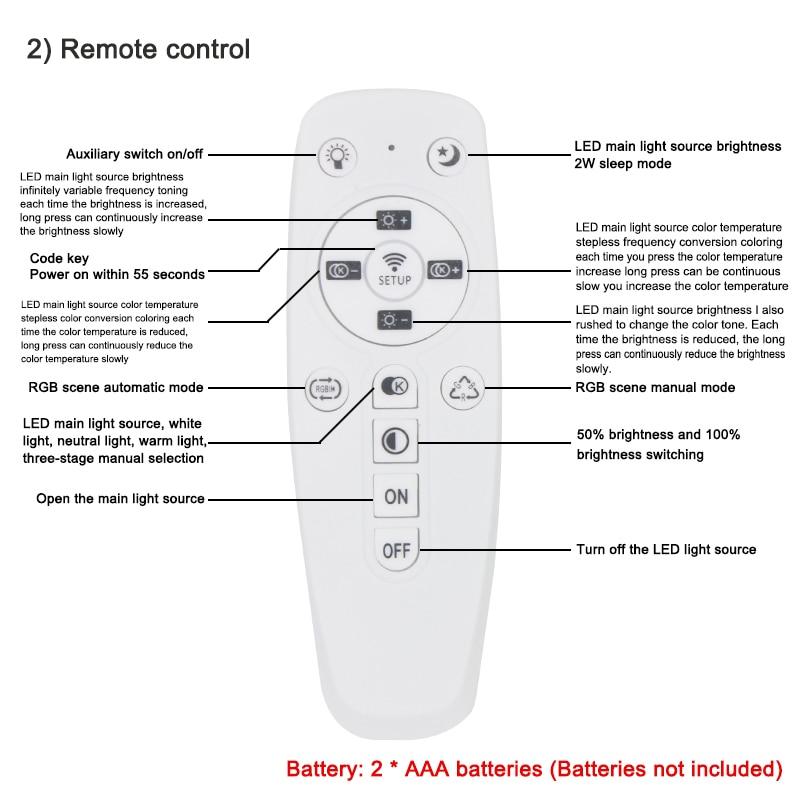 2.4G Remote Control For Ceiling Light  Smart Light By Ceiling Light For Living Room Bedroom
