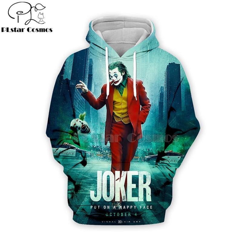 PLstar Cosmos 2019 Dc Haha Joker 3d Hoodies Hooded Sweatshirt Shirt Autumn Winter Long Sleeve Harajuku Halloween Streetwear-2