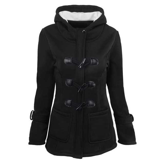 2020 Casual Women Trench Coat Autumn Zipper Hooded Coat Female Long Trench Coat Horn Button Outwear Ladies ToP Pluse Size S-5XL 4