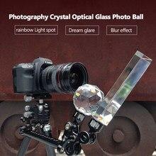 Photographie cristal verre optique Photo boule avec 1/4 ''vis bouche lueur effet accessoires de photographie décoratifs