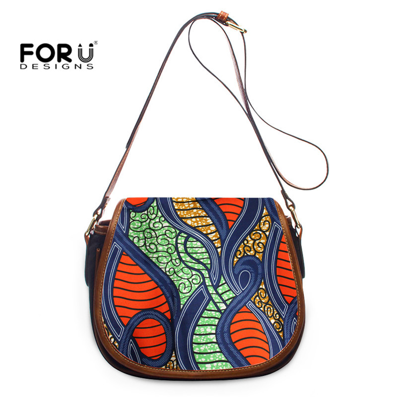 FORUDESIGNS African Tribe Design Lady Unique Shoulder Handbag Travel Mini Messenger Bag  Female  Crossbody Bag  sac a main