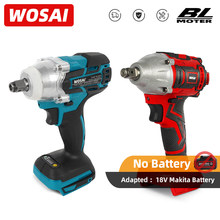 Wosai sem escova sem fio chave de impacto elétrica recarregável 1/2 polegada chave ferramentas elétricas compatível para makita 18v bateria