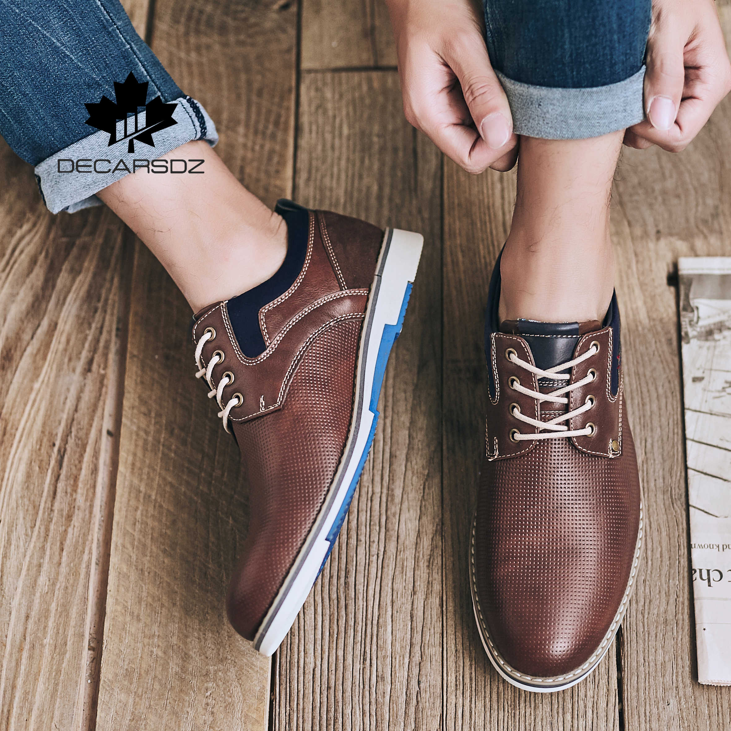 Rahat ayakkabılar erkekler 2020 moda sonbahar ayakkabı erkek marka tasarım erkek deri rahat erkek eğlence ayakkabı kovboy tarzı erkek ayakkabıları