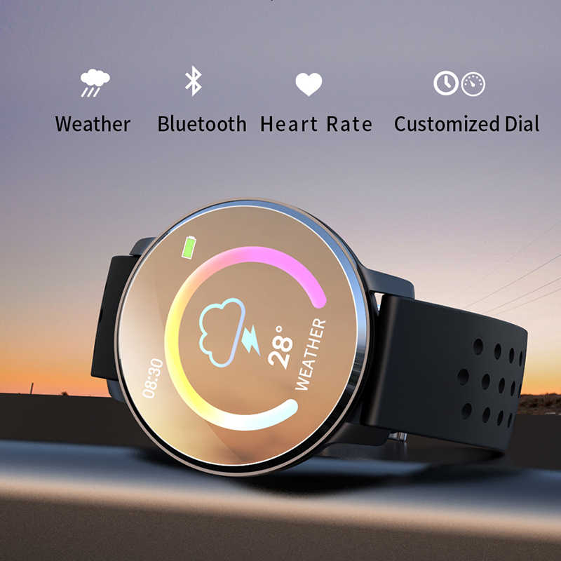 LIGE Мужской умный браслет, фитнес-трекер, датчик сердечного ритма, кровяного давления, для Android ios, водонепроницаемый спортивный браслет