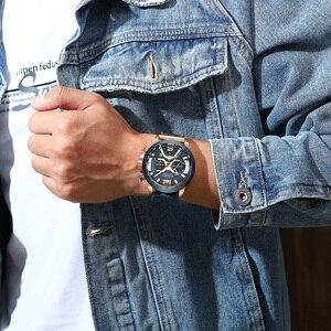 Image 5 - CURREN Luxe Merk Mannen Analoge Lederen Sport Horloges mannen Militaire Horloge Mannelijke Datum Quartz Klok Relogio Masculino 8329