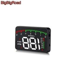 цена на BigBigRoad Car Hud Display OverSpeed Warning Windshield Projector For Great Wall Wingle 5 6 7 C30 C20R C50 M2 M4 V80 Auto