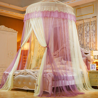 Twin Princess Bed Curtain Tent Home Queen King Netting Mosquito Net Ceiling Mounted Canopy CK Foldable Full Dome D20