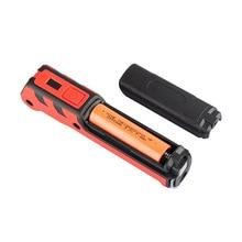 portable spotlight work light led usb rechargeable power bank 2 modes hook case magnetic 18650 battery waterproof