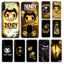 Game Bendy Horror Telefoon Case Voor Samsung Galaxy Een 3 5 8 9 10 20 30 40 50 70 E S Plus 2016 2017 2018 2019 Black Luxe Cover(China)