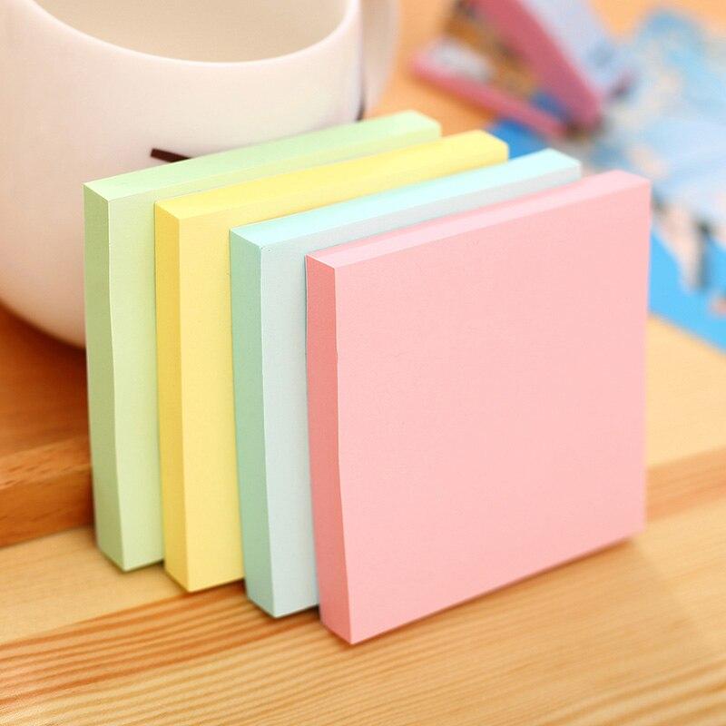 1 pacote lote 51*76mm papel de nota 100 página pegajosa nota etiqueta pós-it etiquetas nota criativa deli 7155