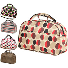 26 Style Travel Bag with Shoulder Strap Oxford Hand Luggage Bag Women's Travel Bag Organizer Female Print Weekend Overnight Bags