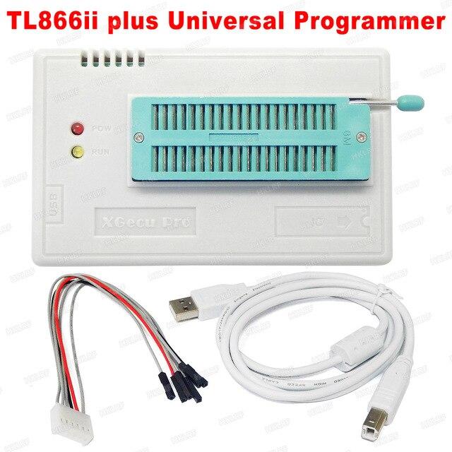 100% Originele TL866II Plus Bios Programmeur + 14 Adapters Bios Flash Eprom Eeprom TSOP32/40/48 TSOP48 Beter dan TL866A TL866CS