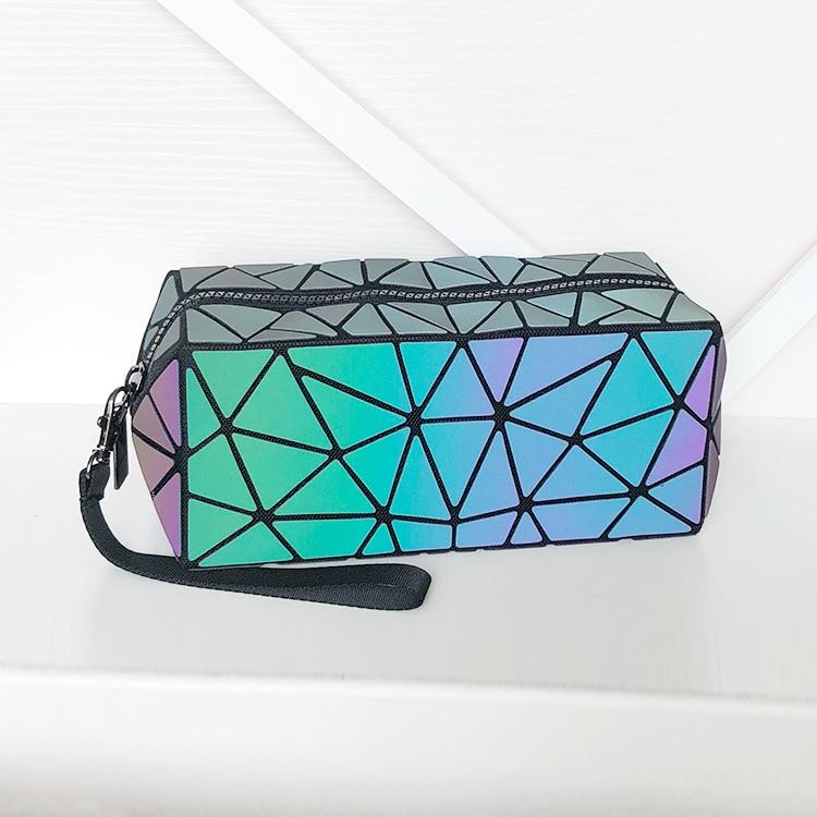 Seasonblack Hot Fashion Trend Cosmetic Bag Pu Geometry Women's Cosmetic Bag Wash Bag
