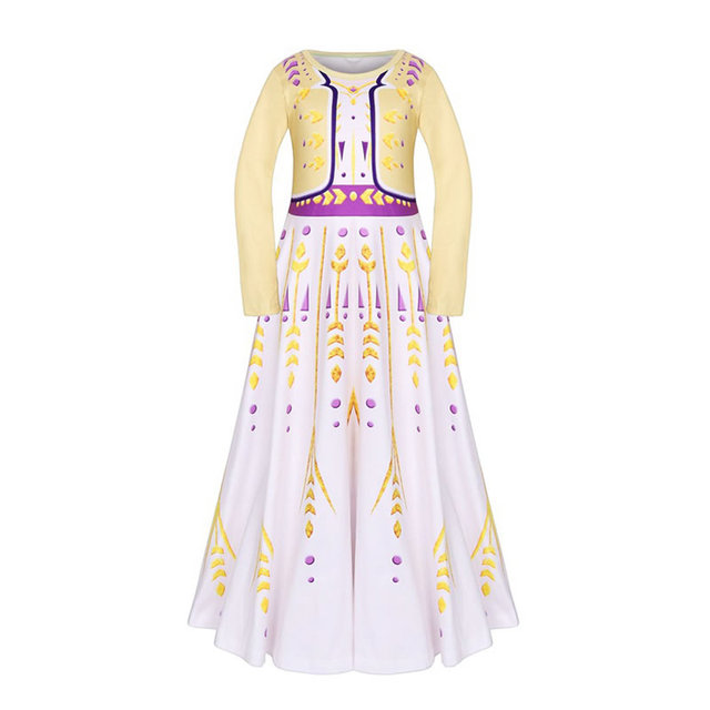 Frozen 2 Elsa Anna Costume For Teen Girl Dress New Year Child Up Lace Party Birthday Frock Elza Kid Disguise Cloth 10 Year
