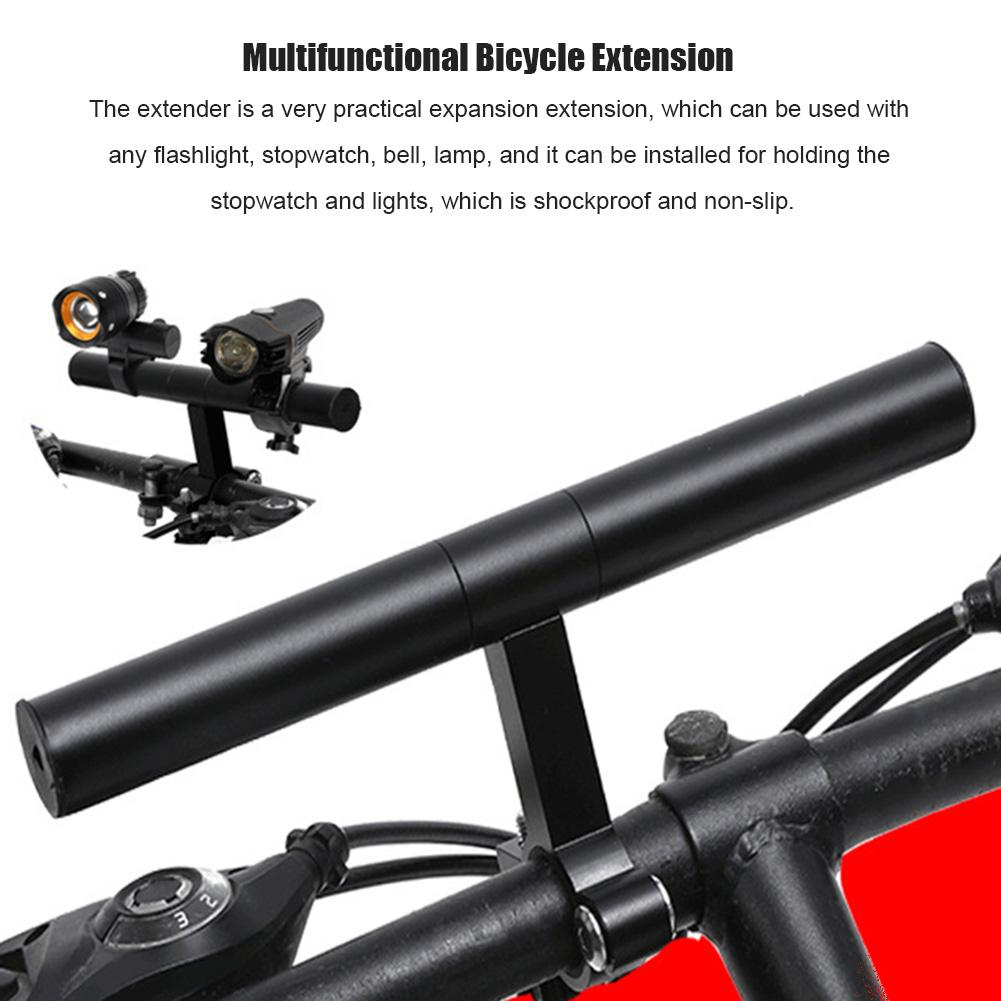Bicycle Extension Frame Handlebars Bike Lamp Phone Holder Aluminum Alloy Bracket