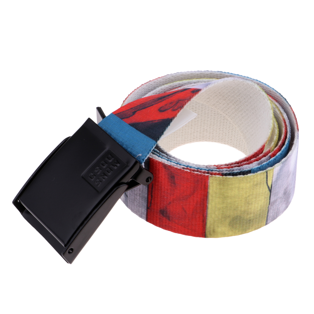 Colorful Canvas Web Belt Waistband for Winter Sports Skiing Snowboarding Outdoor Sports Hiking Climbing Men Women Child