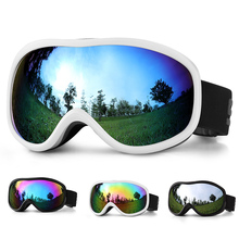 Outdoor Winter Snow Goggles Professional Ski Double Layers Lens Anti-fog UV400 Snowboard Skiing Adult Glasses