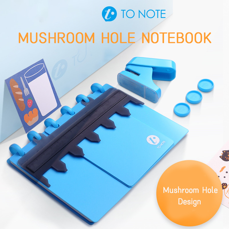 Creative A6 A7 6 Hole Notepad Diy Binding Supplies T-hole Shiitake Mushroom Hole Mushroom Gift Box Punch Loose-leaf Notebook