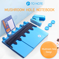 Creative A6 A7 6 Hole Notepad Diy Binding Supplies T-hole Shiitake Mushroom Hole Mushroom Gift Box Punch Loose-leaf Notebook