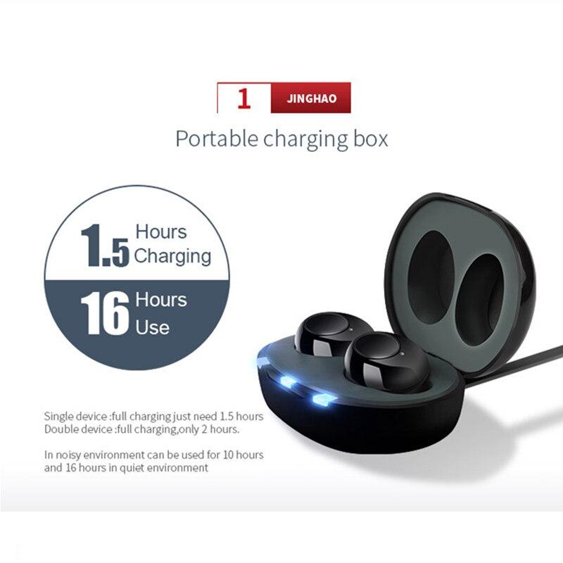 Mini Rechargeable Dual ITE Hearing Aid Hidden Digital Adjustable Tone Aparelho Audifonos Aparato Elderly Hearing Loss