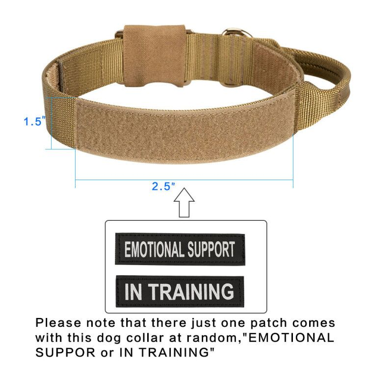 Outdoor Dog Collar Training Dogs Collar Tactical Durable Nylon Dog Collars Adjustable