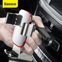 Baseus-Soporte de teléfono para el coche, accesorio de Metal para la gravedad de iPhone y Samsung, con ranura para CD