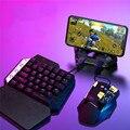 Controlador de jogos para pubg bluetooth 5.0, controlador de jogos com conversor de mouse e teclado para android/ios