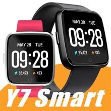 Y7 inteligente pulseira de fitness pressão arterial oxigênio esporte rastreador relógio ip67 à prova dip67 água monitor de freqüência cardíaca para mulheres masculinas