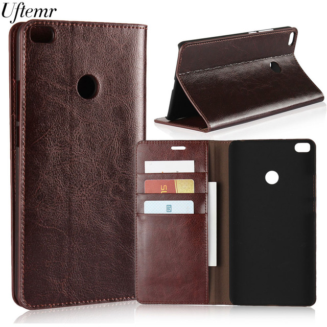 Luxury Vintage Genuine Leather For Xiaomi MI Max 2 Case Crazy Horse Skin Flip Wallet Cover Case For Xiaomi MI Max 2 Accessories
