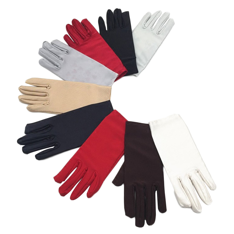 Fashion Women Safety Cover Glooves Summer Men/Women Spandex Gloves Ceremonial Gloves Smooth Stretch Solid Elbow Unisex Cashmere