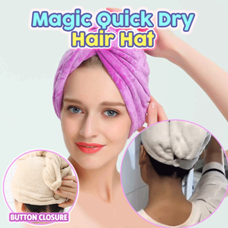 Magic Quick Dry Hair Hat Women Bathroom Super Absorbent Rapid Drying Bath Towel Hair Dry Cap Drop Shipping
