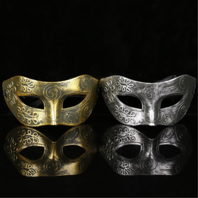Party Face Mask Eye Gold Or Silver Face Mask Masquerade Men Burnished Antique Silver Gold Venetian Mardi Gras Party Cosplay Mask