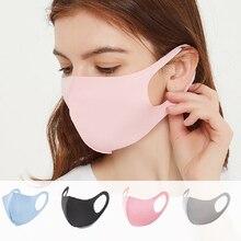 Masque Face-Mask Black Mascarillas Washable Women 10/50pcs